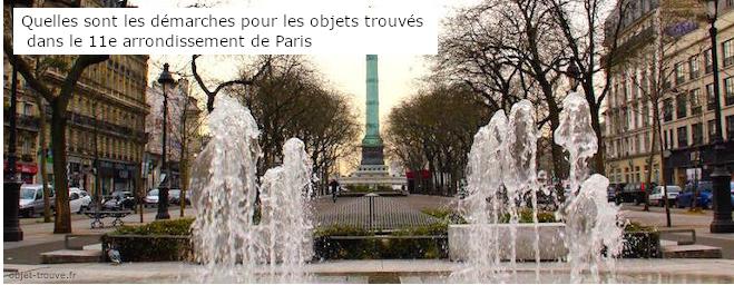Quelles sont les démarches pour les objets trouvés dans le 11e arrondissement ?