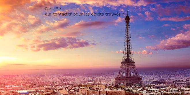 Paris 7e : qui contacter pour les objets trouvés ?