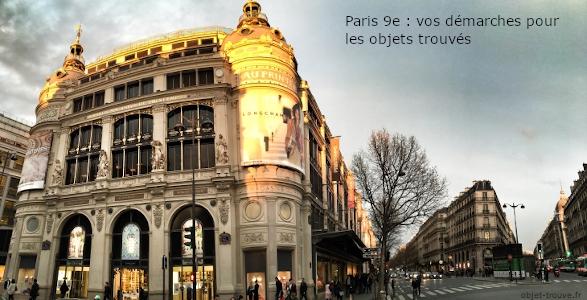 Objets trouvés dans le 9e à Paris