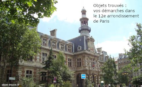 Objets trouvés dans le 12e arrondissement de Paris