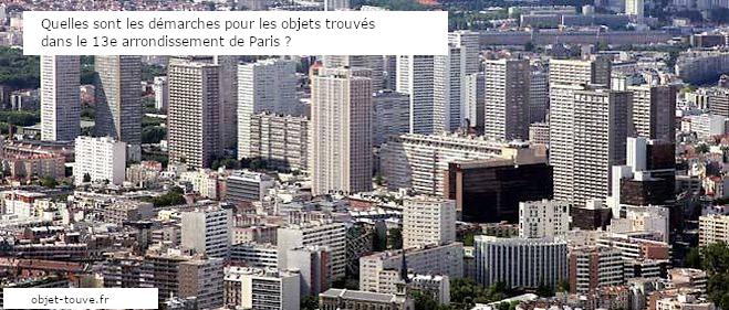Paris13e : les démarches pour les objets trouvés
