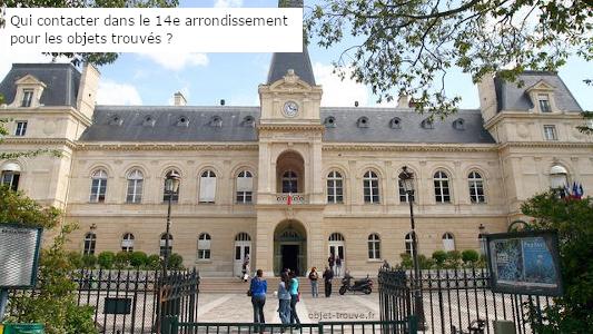 Qui contacter dans le 14e arrondissement pour les objets trouvés ?