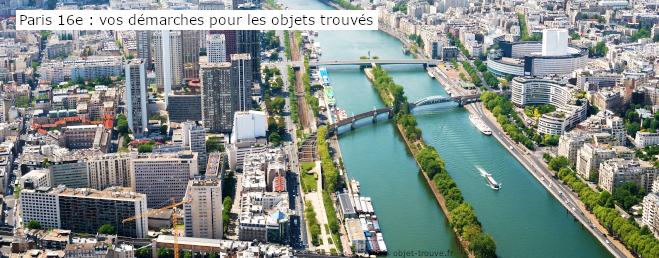 Vos démarches pour les objets trouvés à Paris 16