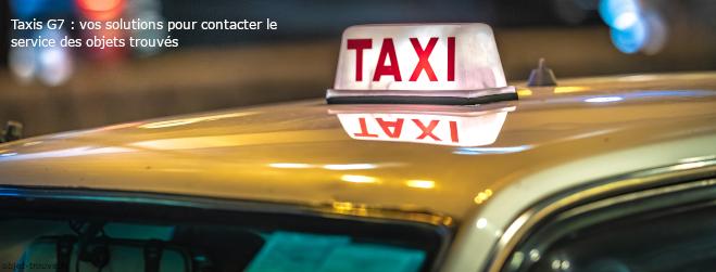 Objet Trouvé dans un Taxi G7