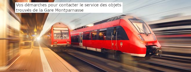 Qui contacter à la Gare Montparnasse pour les objets trouvés ?