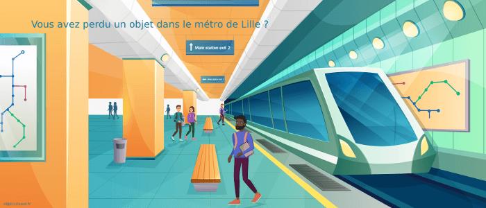 Vous avez perdu un objet dans le métro de Lille ?