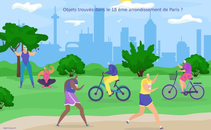 Vous avez perdu un objet dans le 18 ème arrondissement de Paris ?