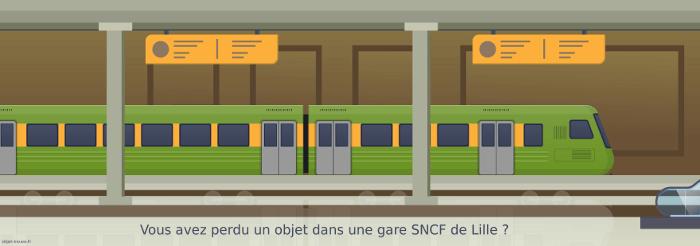 Vous avez perdu quelque chose en gare SNCF de Lille ?