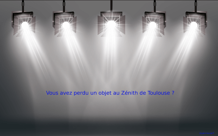 Comment contacter les objets trouvés du Zénith de Toulouse ?